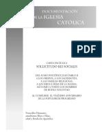 Enciclica (Solicitudo Rei Socialis, Juan Pablo II)