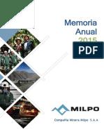 Memoria Milpo 2015