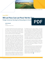 Will Low Prices Cure Low Prices? Not this Time.