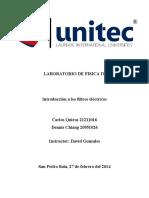 Laboratorio Introducción a Los Filtros Eléctricos