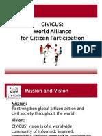 CIVICUS Membership Presentation August 2009