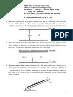 ME 305 Fall 2015 Study Set 1