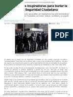 Doce Acciones Inspiradoras Para Burlar La Nueva Ley de Seguridad Ciudadana