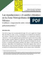 Inundaciones y Cambio Climático en Zona Metropolitana del Valle de México