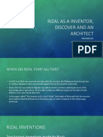 Rizal As A Inventor, Discover And An Architect