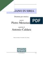 Metastasio Caldara Adriano in Siria