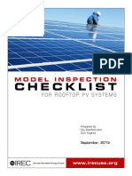 Model Inspection Checklist