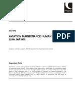 Cap 716 Aviation Maintenance Human Factors Jaa Jar 145