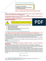 Manual de Instrucciones de Panel Led