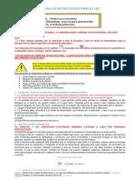 Manual de Instrucciones de Panel Led