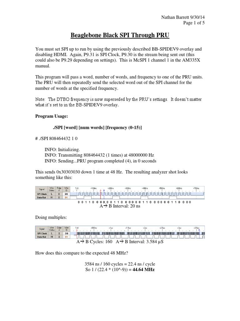 SPI PRU | Input/Output | Telecommunications