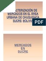 Caracterización mercados CHUQUISACA