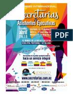 Brief Congreso Internacional de Secretarias y Asistentes Ejecutivas 2016