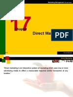 Marketing Management Chapter 17