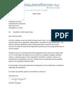 Speaker Ryan Disavowal Letter