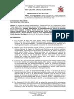 Resolución del JEE que tacha candidatura de Guzmán