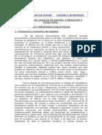 TEMA 7.- LAS LENGUAS DE ESPAÑA. FORMACIÓN Y EVOLUCIÓN.