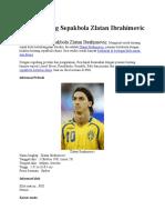Profil Bintang Sepakbola Zlatan Ibrahimovic