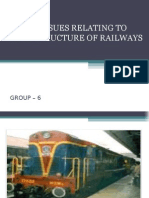 Major Issues Relating to Infrastructure of Indian  Railways
