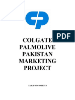 Colgate Palmolive Marketing Project