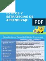 Estilos y Estrategias de Aprendizaje para PDA