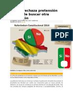 Bolivia Rechaza Pretensión de Evo de Buscar Otra Reelección
