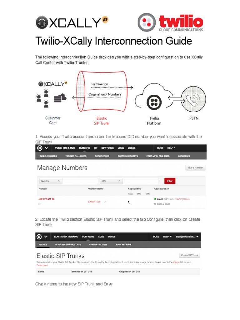 Twilio manual | Session Initiation Protocol | Ip Address