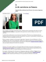 26-02-16 Anuncia Claudia Pavlovich Rescate de Carreteras en Sonora. -Sexenio