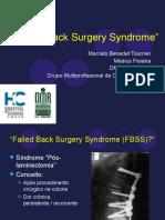 Failed Back Surgery Syndrome - Síndrome pós laminectomia