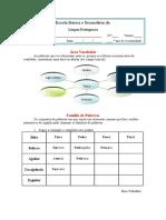 Area Vocabular Famìlia de Palavras