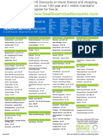 Healthservicediscounts Poster Retailer List v2
