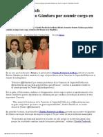 25-02-16 Claudia Pavlovich felicita a Ernesto Gándara por asumir cargo en el Senado. -Sexenio