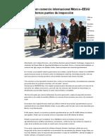 16-02-16 Fortalecen comercio internacional México–EEUU con modernos puntos de inspección. -El Sol de México