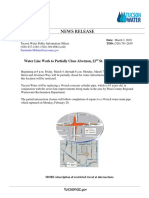 News release for Alvernon and 22nd St Closure