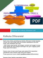 Persamaan Diferensial Orde Satu Dan Dua