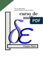 Cassio Neri - Curso de Análise Real