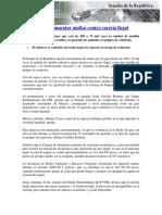 03-03-16 Avala Senado Aumentar Multas Contra Cacería Ilegal