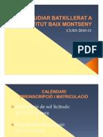 ESTUDIAR 1r DE BATXILLERAT A L'INSTITUT BAIX MONTSENY