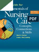 Study Guide for Fundamentals of Nursing Care - Burton, Marti [SRG]