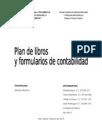 Plan de Libros y Formulación de Contabilidad
