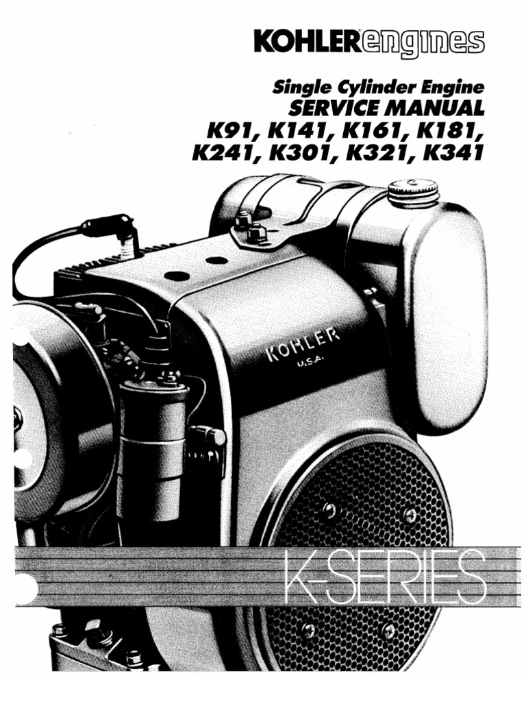 Kohler 301 Manual – Kohler K181s Engine Wiring Diagrams