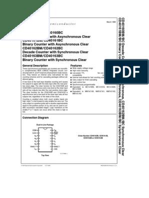 CD40161BCN INTEGRATED CIRCUIT NATIONAL