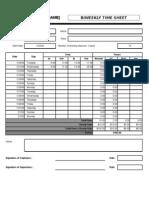 BiWeekly Time Sheet