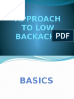 Approach to Low Backache