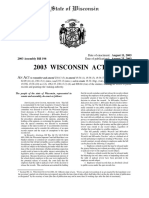 """Full Text of the """"Woznicki Fix"""" (2003 Wisconsin Act 47)"""
