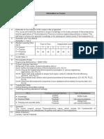 DME Course (DME 3013)