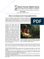 20Apr10 Attacks and displacement in Nyaunglebin District