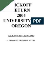 University of Oregon 2004 Kick Return