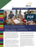 Bachelor of Business Studies