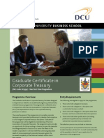 DCU Graduate Certificate in Corporate Treasury